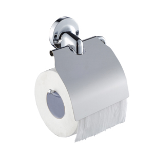 Zamac Chrome Toilet Roll Holder with Cover