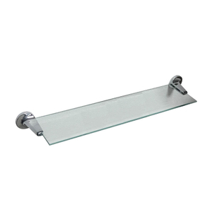 Zamac Chrome Shelf with Glass