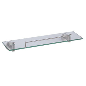 Stainless Steel Satin Shelf with Glass